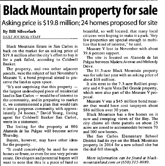black mountain print daily journal