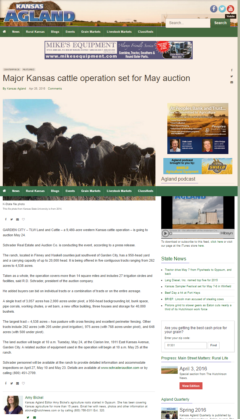 Major Kansas cattle operation set for May auction State Ag News kansasagland.com