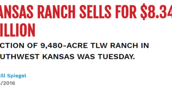Successful Farming story on Schrader's successful auction of giant Kansas cattle operation