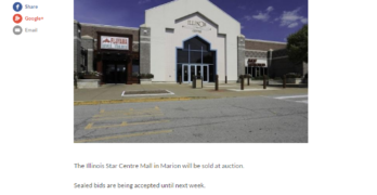 NPR station interview on upcoming auction of Illinois Star Center Mall